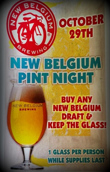 New Belgium Brewing Pint Night | Cork & Pint