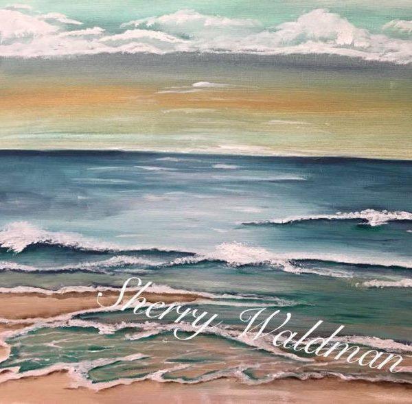 Ocean Shoreline Canvas 16×20 Tutorial