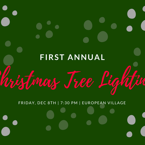 First Annual Christmas Tree Lighting Ceremony